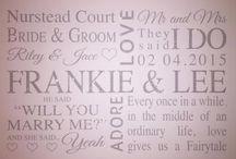 ♡ Personalised Bridal / Wedding Products / www.hunnibunniboutique.co.uk