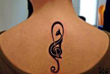 cat music tattoo