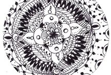 Zen doodles / A collection of my doodles aka zentangle freestyle. Sketches for my coloring book.