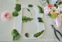 Lettere di fiori