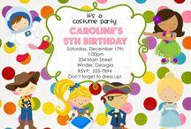 Birthday Invitation Inspiration / by Nikki Schroeher