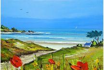 Pinturas de Praias por Frédéric Flanet