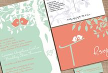 Mint and coral wedding / Mint green and coral pink wedding colors