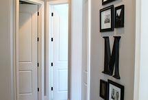 small hallway picture arrangements
