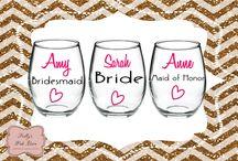 Drinkware / Stemless Wine Glass, Modern Skinny Tumbler, Double Wall Acrylic Tumbler, Shot Glass, Beer Mug.