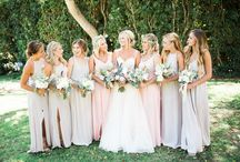 Bridesmaid and groomsmen wear
