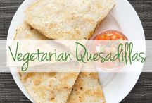 Vegetarian Quesadillas / The quesadilla is the go-to quick fix dinner. But when trying to get your veggie on and stay meat-free, you may be left with a boring (or even empty!) tortilla. Not so fast – check out the most scrumptious meatless quesadilla recipes here.