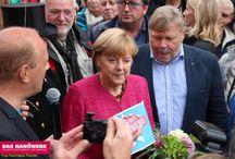 Bundeskanzlerin Angela Merkel in Stralsund Tag des Handwerks