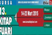 13. Bursa Kitap Fuarına sayılı günler kaldı / Bursa 13. Kitap Fuarı, 14-22 Mart 2015 tarihleri arasında Bursa Uluslararası Fuar ve Kongre Merkezi'nde açılacak.