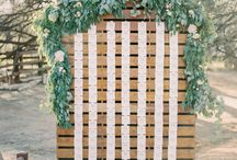 Culinary wedding aisle decor