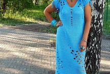 hačkovane šaty