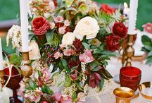 Wedding Colours * Deep red, green, gold / by Rebecca Chan Weddings & Events