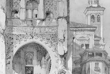 Pencil sketching architecture