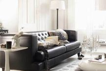 Living with the black leather sofa