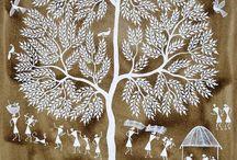 Paintings - Indian Warli Tribal