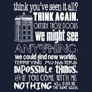 Doctor Who / Doctor Who stuff pretty much sums it up. :)