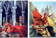 Fantasy Dragon Wall Art Print Posters