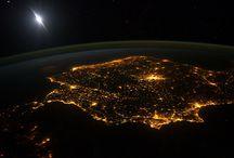 Európa felülnézetből (éjszaka) / Éjszakai fények az űrből
