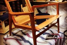 Custom hand crafted cherrywood arm chair by Jeff Trigg