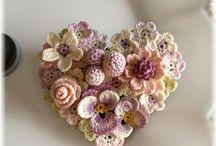 Haken bloemen en blaadjes