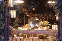 Table settings outside