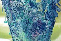 3D Fiber art/ Textile boxes / Amazing examples of 3D textile artwork