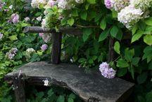 Скамейки\ лавочки\стулья \кресла в саду