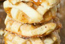 galletas con cajeta y manzanas