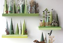 cut and folded paper illustrations