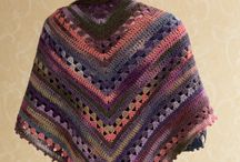 crochet shawls/panchos