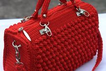 örgüden çanta