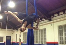 The one in the air / Aerial silks moves and conditioning