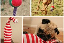 DIY Dog Toys / Dog toys can be expensive! Save your pennies and start getting creative. There are so many dog toys you can make with the stuff that you already have at home!