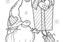 Målarbilder jul