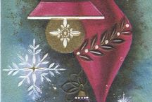 Vintage Christmas Cards - Holiday Decor
