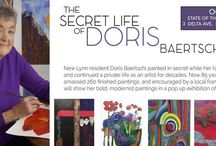 Doris Baertisch. Beautiful painintings which needed to be exhibited. Love her colourful work.