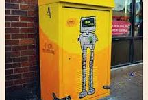 Utility Box Art / Ideas for what you can do to make your downtown more beautiful.