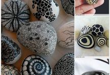 Rock painting / Painting rocks and pebbles a collection of beautiful designs.