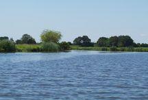 Untere Eider / Die Untereider beginnt als Stillgewässer in Rendsburg und führt den Wasserwanderer durch ruhige Wiesenlandschaften mit einer reichhaltigen Wasservogelwelt bis zur Einmündung in die Nordsee im Katinger Watt. Etwa 10 Kilometer vor Friedrichstadt ist sie ein sehr reizvoller, aber anspruchsvoller Küstenfluss, dessen Wasserstand und Strömung sich mit Ebbe und Flut stark verändert.