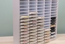 OrganizeMore! / Storage organizers for scrapbooking, stamping, and paper crafting, that are durable and cute! These organizers are perfect for any craft room!