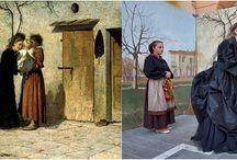 DIPINTI E COSTUMI / dal dipinto ricostruire il costume e la cultura dell'epoca