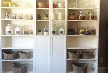 pantry ideas/ikea shelves