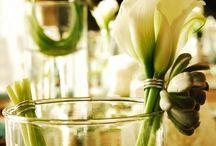 Calla lilies centrepiece