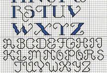 Mønstre til perler og broderi / Bogstaver of tal til broderi of perler