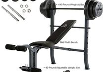 Home Workout Exercise Gym Strength Fitness Train Machine & 40-Pound Weight Set
