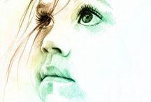 Faces watercolor