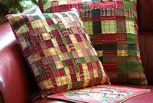 patchwork - rag quilt / toto su inspiracie na rag-quilt techniku, jednoducha, nemusis presivat celu deku