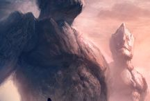 #Gigant #Sci-fi #Knight #illustration #Monsters #Landscape #Digital