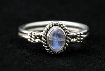 Silver Semi Precious Stone Rings
