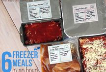 Freezer Ideas & Meal Planning/Canning / Assorted Freezer Meals